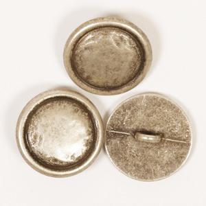 rund metall silver knapp