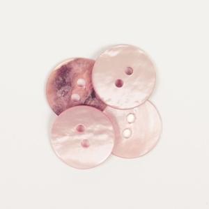 Rund ljusrosa (15 mm)