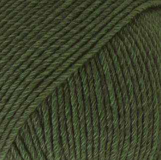 DROPS Cotton Merino mörkgrön 22
