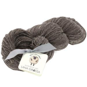 Lana Grossa SLOW WOOL LINO grå brun 4