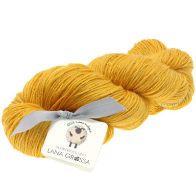 Lana Grossa SLOW WOOL LINO safran gul 17