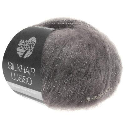 Lana Grossa Silkhair Lusso grafit grå 906