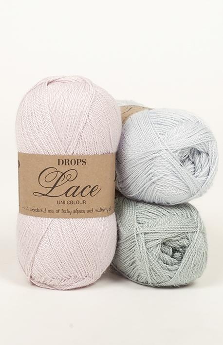 drops lace enfärgad