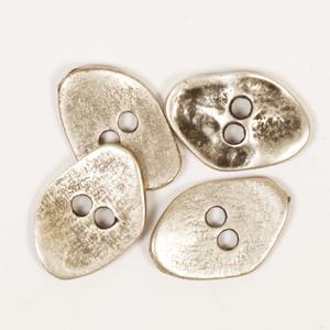 metall kantig knapp
