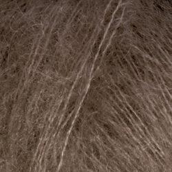 DROPS Kid-Silk mörk brun uni colour 15