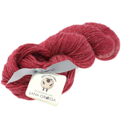 Lana Grossa SLOW WOOL LINO dahlia röd 14