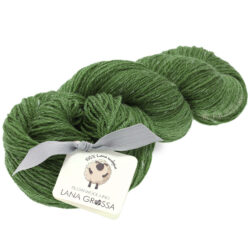 Lana Grossa SLOW WOOL LINO grön 9