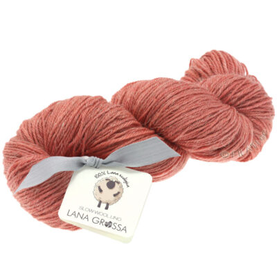 Lana Grossa SLOW WOOL LINO lax röd 18